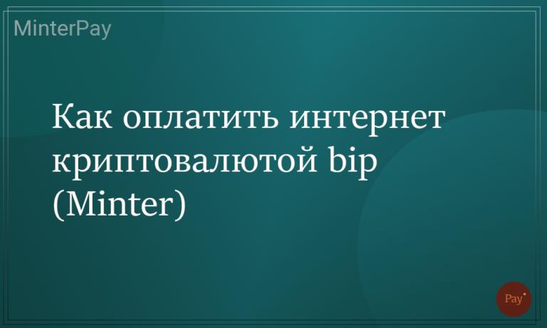 Как оплатить интернет криптовалютой bip (Minter)