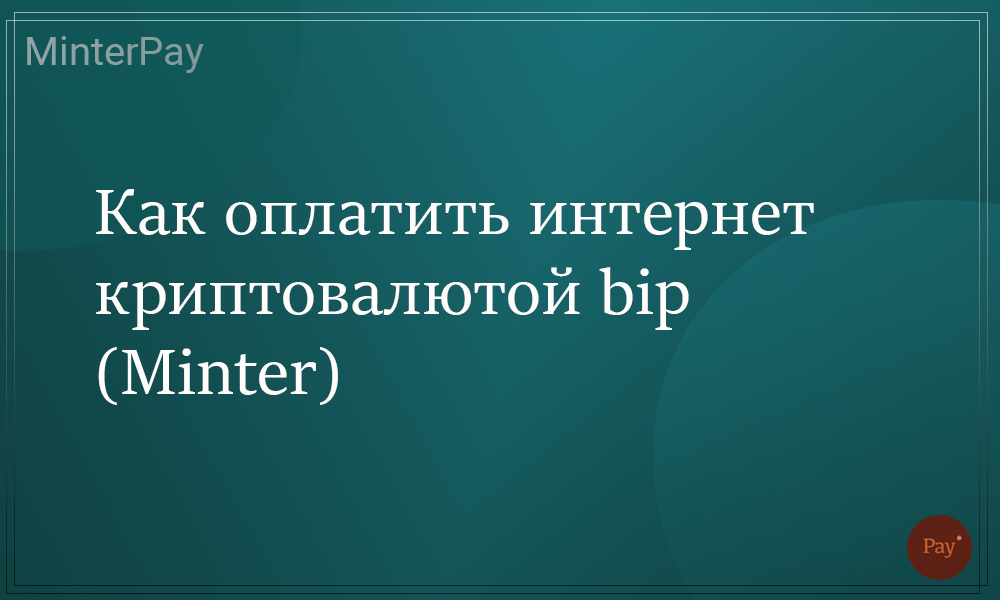Read more about the article Как оплатить интернет криптовалютой bip (Minter)